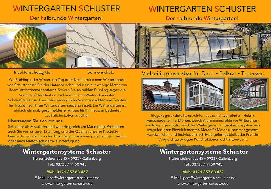 Wintergartensysteme Schuster